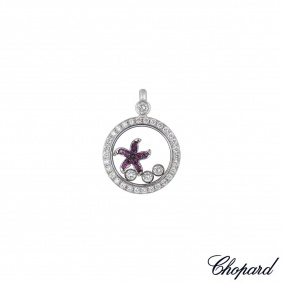 Chopard White Gold Happy Diamonds Starfish Pendant